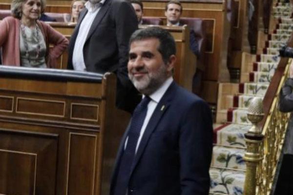 Jordi Sànchez, en el Congreso de los Diputados.