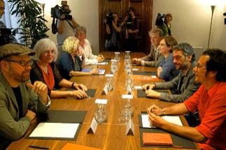 Reunión de los 'alcaldes del cambio' en el año 2015
