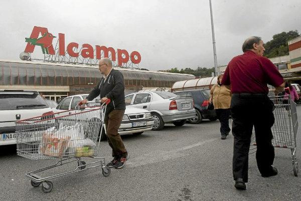 Un supermercado Alcampo en San Sebastián.