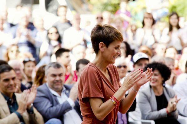 María Chivite, en un acto electoral celebrado el pasado mes de mayo.