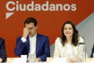 Albert Rivera e Inés Arrimadas, este lunes en Madrid.