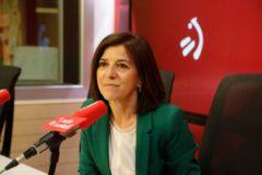 Izaskun Bilbao durante la entrevista.