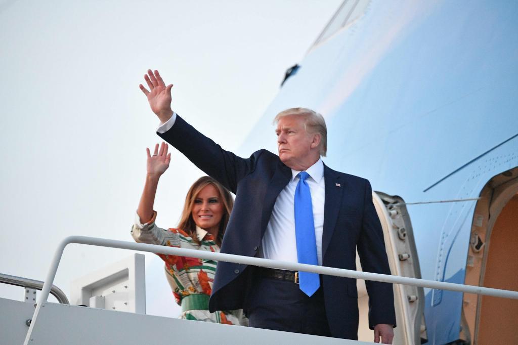 El presidente estadounidense y la primera dama, Donald y Melania...