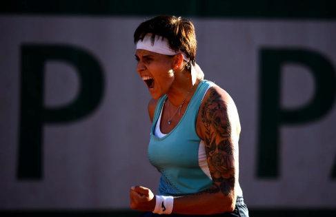 Aliona Bolsova, en su último partido.