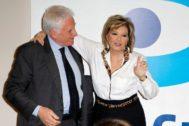 La periodista María Teresa Campos y Paolo Vasile
