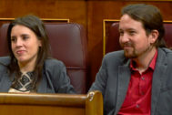 Pablo Iglesias e Irene Montero, en el Congreso de los Diputados