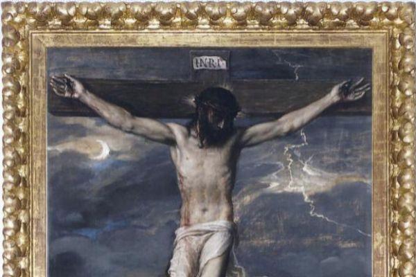 La obra de el 'Cristo crucificado' de Tiziano.