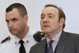 Kevin Spacey en una vista preliminar al juicio en enero.