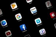 Los logos de las tecnológicas en las 'apps' de una tableta.