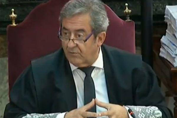 El fiscal Javier Zaragoza, este martes en el Tribunal Supremo.