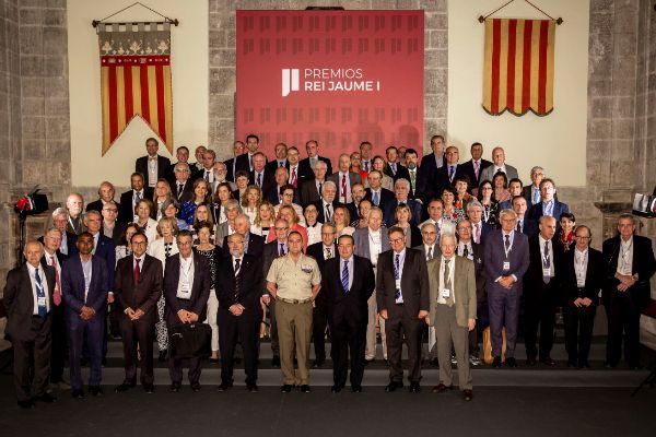 Los miembros del jurado de los Premios Rei Jaume I, en Valencia.