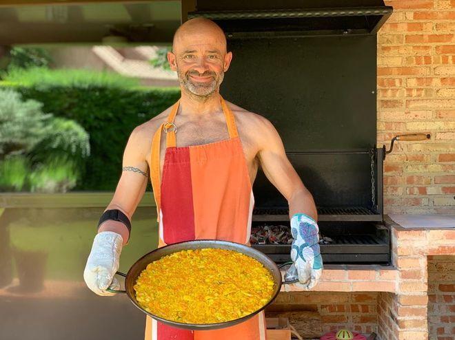 Lobato, en la fotografía de 'cocinero porno'.