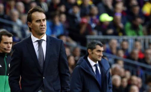 Julen Lopetegui, durante su etapa en el Real Madrid.