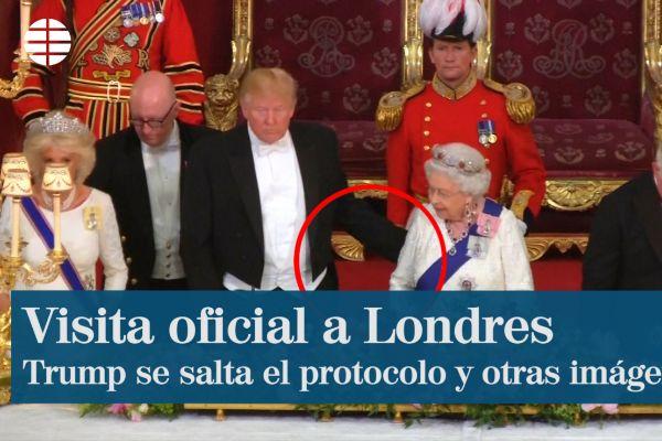 Trump se salta el protocolo, las mejores imágenes