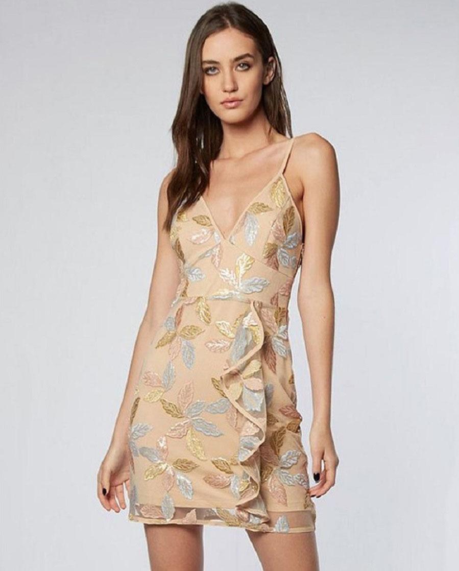 44c974958a2c Rebajas 2019: Vestido nude con transparencias, de Colcci para El ...