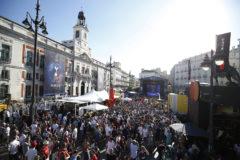 La Puerta del Sol, el pasado fin de semana, durante el festival de música programado por la Champions.