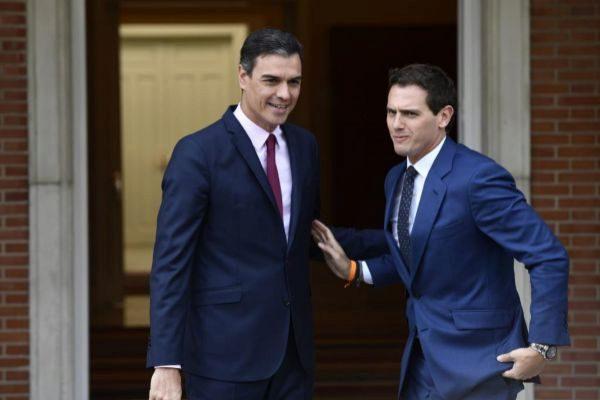 Pedro Sánchez y Albert Rivera, durante su último encuentro en La...