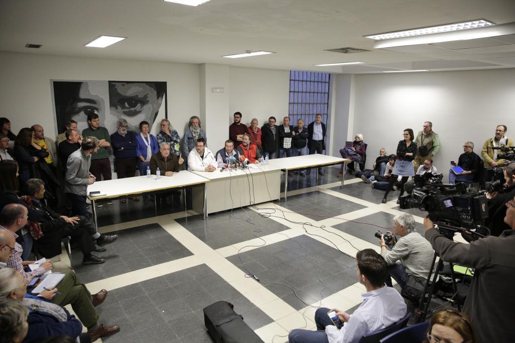 Rueda de prensa de las asociaciones vecinales tras el asesinato en El Pozo.