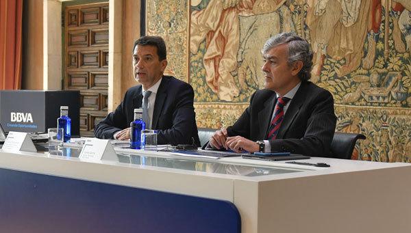 Rafael Doménech y Carlos Gorria, del BBVA.