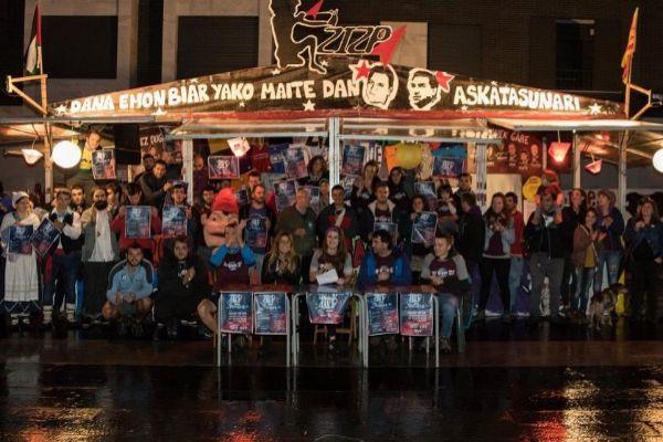 Imagen facilitada por Covite de una fiesta anterior en la que se homenajeó a presos de ETA.