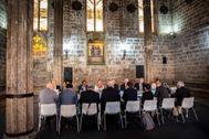 El jurados de los Premios Rei Jaume I, en plena deliberación.