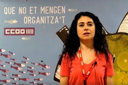 La secretaria de Empleo de CCOO-PV, Ana García.