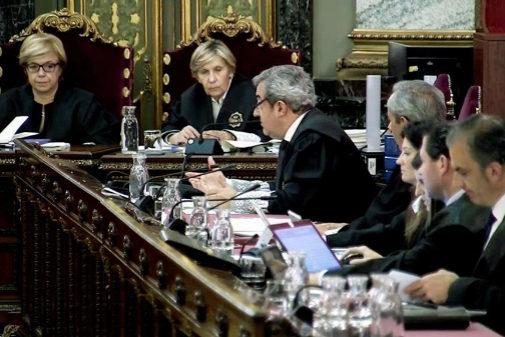 Sesión del juicio del 1-O, en el Tribunal Supremo