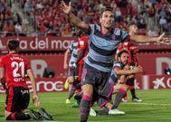 Fede San Emeterio festeja el gol que confirmó el ascenso del Granada.