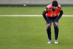 Neymar, durante el entrenamiento de la Selección de Brasil para la Copa América.