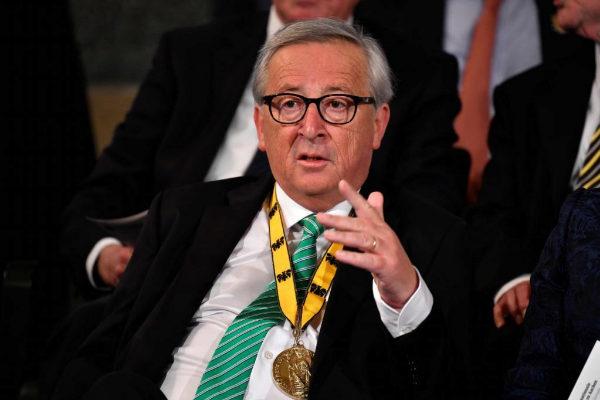 El presidente de la Comisión Europea, Jean-Claude Juncker, en Alemania.