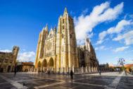La impresionante catedral gótica de León.