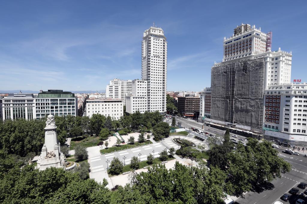 Obras en Plaza de España.