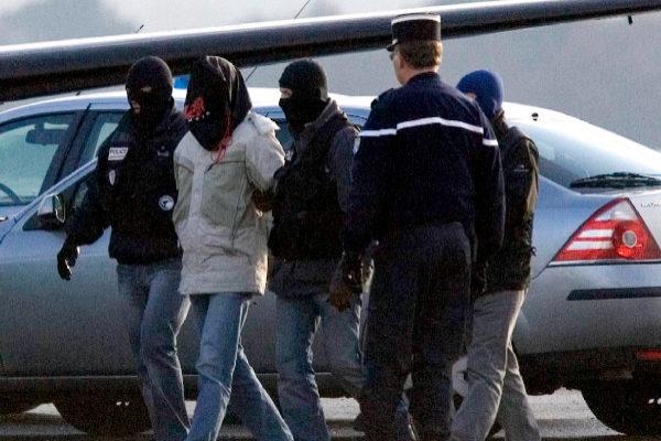Aitzol Iriondo tras su detención en Francia-