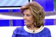 María Teresa Campos en una de sus intervenciones en Sálvame, programa de Telecinco en el que los tertulianos la han criticado por sus declaraciones sobre su contrato con Mediaset