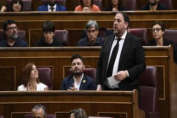 Oriol Junqueras, en el pleno constituyente del Congreso el pasado 21 de mayo.