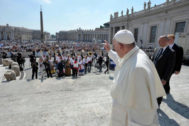 <HIT>Pope</HIT> Francis holds his weekly general audience at the Vatican