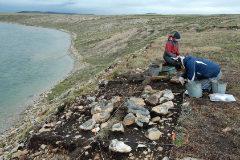 La excavación en Nunavut, en el ártico canadiense