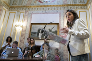 Irene Montero, durante una comparecencia en el Congreso
