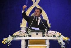 El líder de la iglesia de la 'Luz del Mundo', Naasón Joaquín García, en una sesión en Ciudad de México, en 2017.
