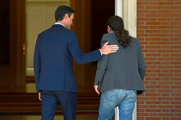 Pedro Sánchez y Pablo Iglesias el pasado 7 de mayo en el Palacio de la Moncloa.