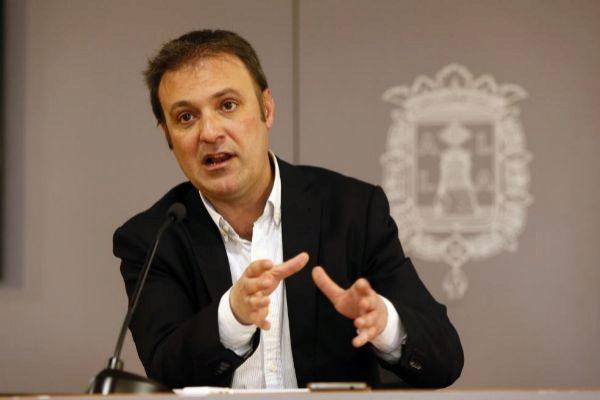 El portavoz de Compromís en Alicante, Natxo Bellido, en una imagen de archivo.