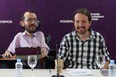 Pablo Iglesias y Pablo Echenique, en una reunión de la dirección de...