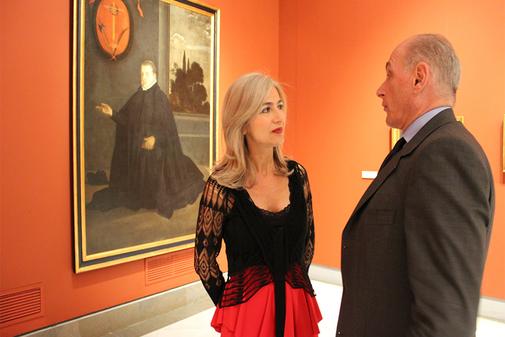 La consejera Patricia del Pozo y Bernard Ruiz-Picasso, en el Museo de Bellas Artes.