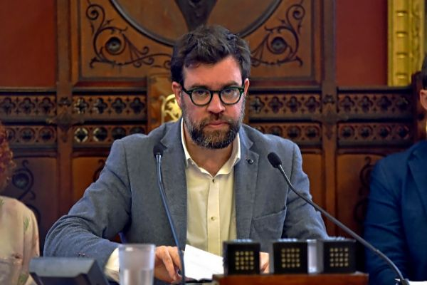 El alcalde de Palma, Antoni Noguera (Més) en un reciente pleno de Cort.