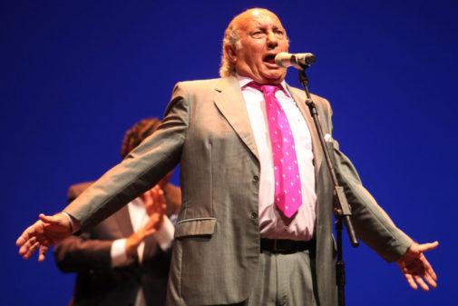 El cantaor Fernando de la Morena en un momento de su paso por la Bienal 2014.