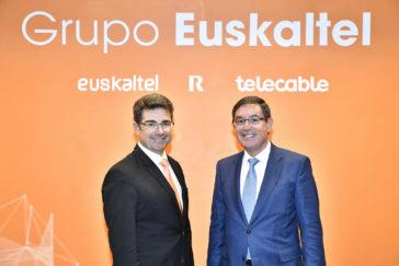 José Miguel Garcia, nuevo CEO de Euskaltel, junto al presidente, García Erauzkin.