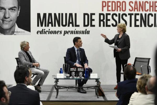 Pedro Sánchez, en la presentación de su libro, Manual de...