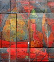 Detalle de un mosaico cerámico de Carles Madiroles.