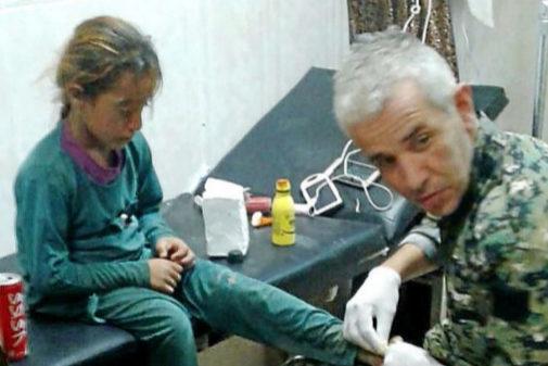 El combatiente español Dr. Dellil, que se encuentra en estado de coma