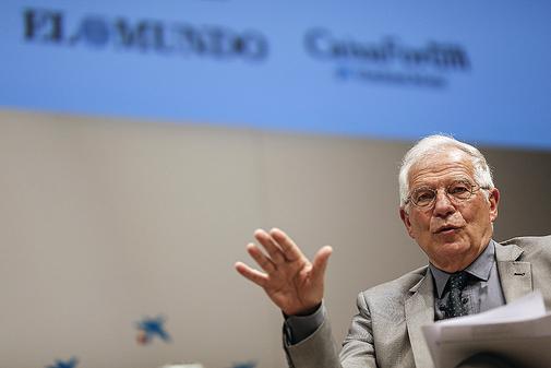Josep Borrell, durante un acto sobre Europa